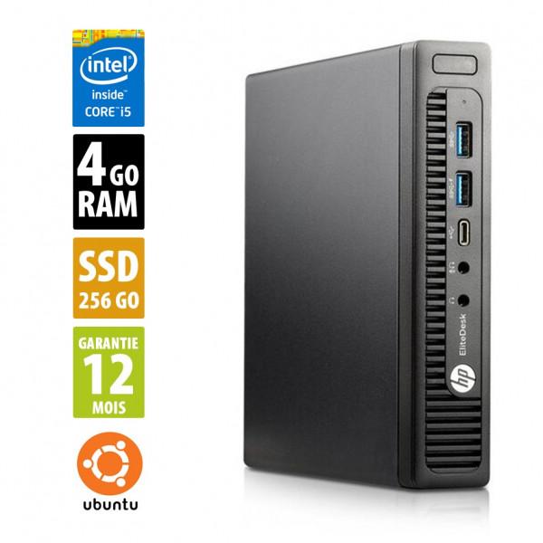 HP EliteDesk 800 G2 USFF - Core i5-6500T@2,50GHz - 4Go RAM - 256Go SSD - Ubuntu
