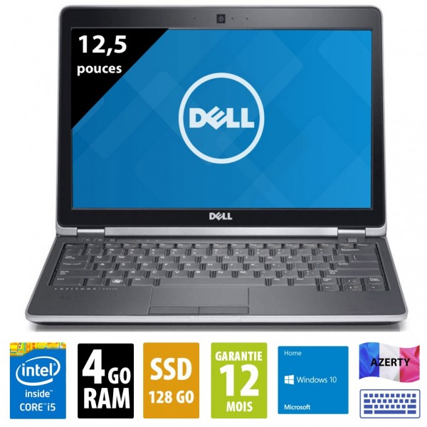 Dell Latitude E6230 - 12,1 pouces - Core i5-3340M @2,70 GHz - 4Go RAM - 128Go SSD - WXGA (1366x768) - Windows 10 Home