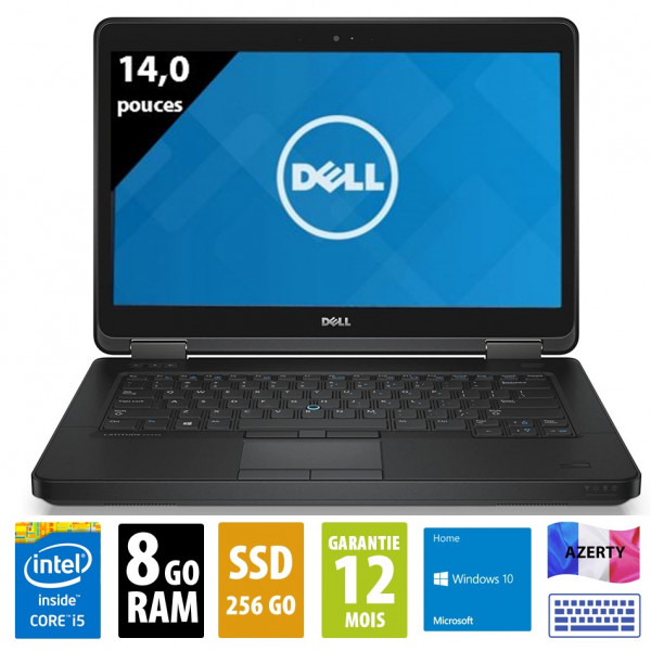 Dell Latitude E5440 - 14,1 pouces - Core i5-4300U@1.90GHz - 8Go RAM - 256Go SSD - DVD-RW - WXGA (1366x768) - Windows 10 home