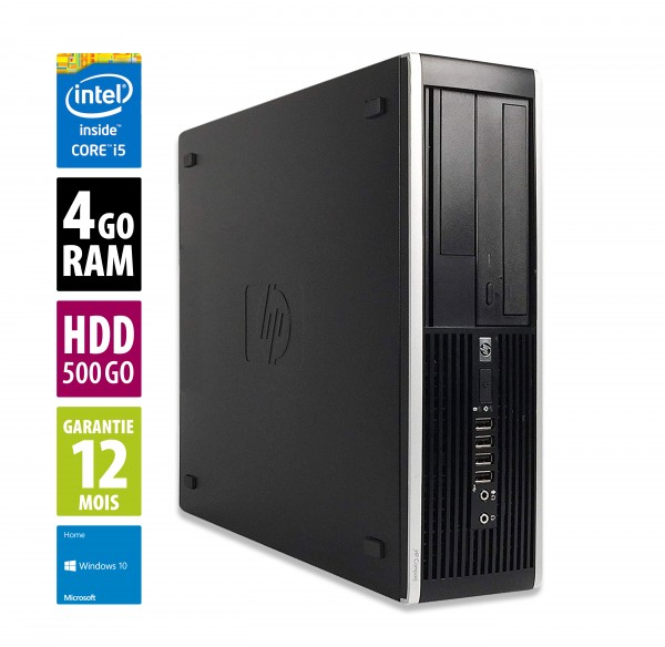 HP Compaq Elite 8300 SFF - Core i5-3570@3,20GHz - 4Go RAM - 500Go HDD - DVD-RW - Windows 10 Home