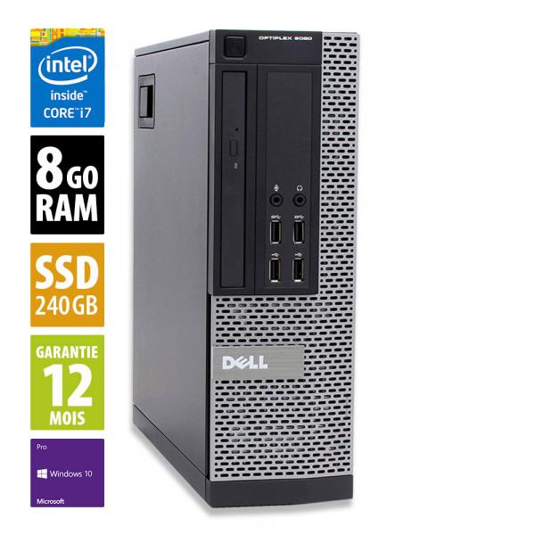 Dell Optiplex 9020 SFF - Core i7-4770@ 3.40GHz - 8Go RAM - 240 SSD - Windows 10 Pro