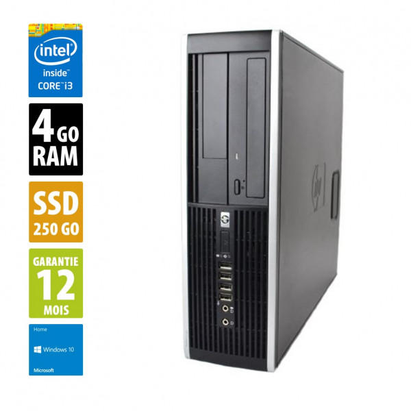 HP Compaq 6200 Pro SFF - Core i3-2100@3.10GHz - 4Go RAM - 256Go - Windows 10 Home