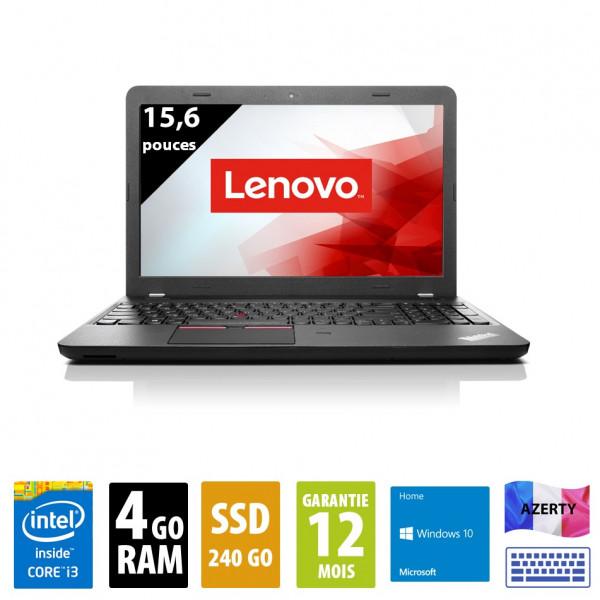 Lenovo ThinkPad E550 - 15 pouces - Core i3-5005U@2.00 GHz - 4Go RAM - 240Go SSD - (1920x1080)  - Windows 10 Home
