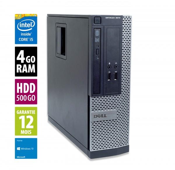 Dell Optiplex 3010 SFF - Core i5-3470@3.20GHz - 4Go RAM - 500Go - DVD-R - Windows 10 Home