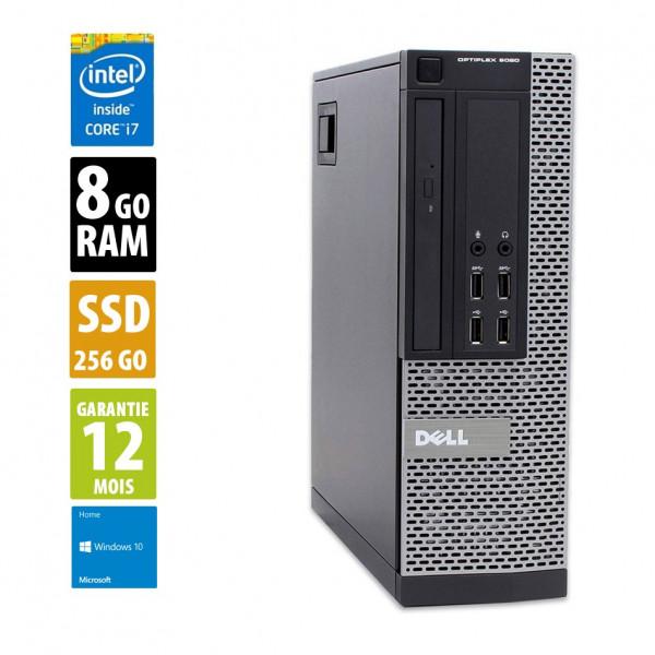 Dell Optiplex 9020 SFF - Core i7-4770@3.40GHz - 8Go RAM - 256 SSD - Windows 10 Home