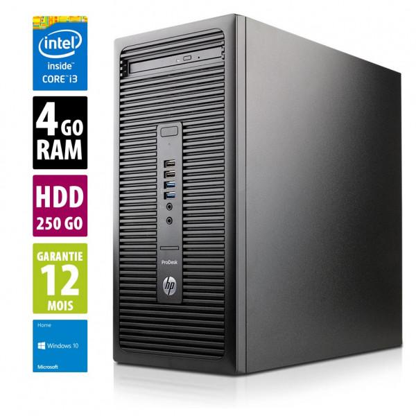 HP ProDesk 600 G2 - Core i3-6100@3.70GHz - 4Go RAM - 250Go HDD - DVD/RW - Windows -10 Home