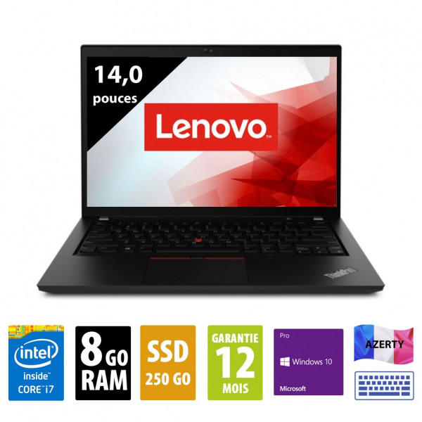 Lenovo Thinkpad P14s Gen 1 - 14 pouces - Core i7-10510U@1,80GHz - 8Go RAM - 250Go SSD - FHD(1920x1080) - Windows 10 Pro