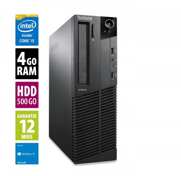Lenovo ThinkCentre M92P SFF - Core i5 3470@3.20GHz - 4Go RAM - 500Go HDD - Windows 10 Home