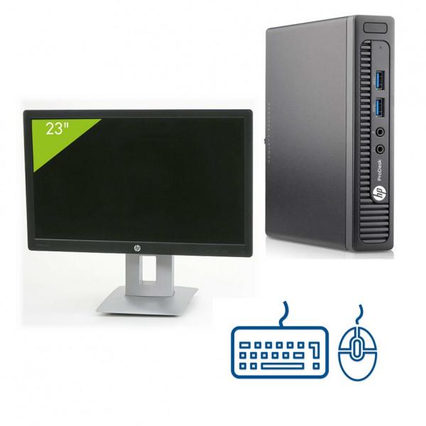 Pack : Écran AOC 23'' + HP ProDesk 400 G1 USFF + clavier/souris reconditionnés