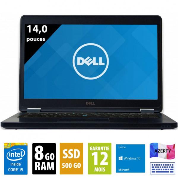 Dell Latitude E5450 - 14 pouces - Core i5-5300U@2.30GHz - 8Go RAM - 500Go SSD - WXGA ( 1366x768 ) - Windows 10 Home