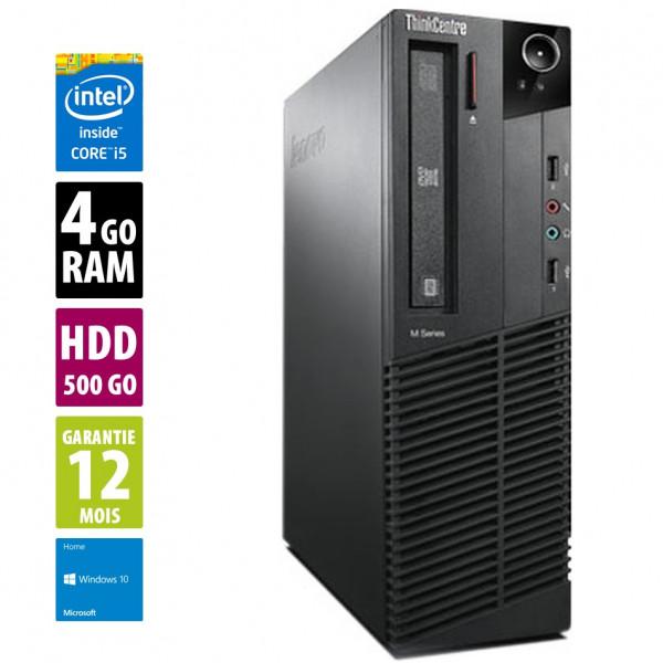 Lenovo ThinkCentre M91P SFF - Core i5 2400@3.10GHz - 4Go RAM - 250Go HDD -  DVD-RW - Windows 10 Home