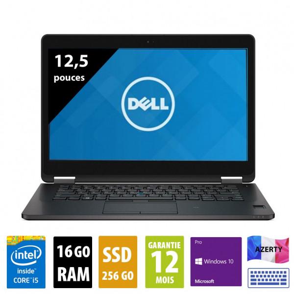 Dell Latitude E7270 - 12,1 pouces - Core i5-6300U@2,40GHz - 16Go RAM - 256Go SSD - WSXGA (1600x900) - Windows 10 Pro