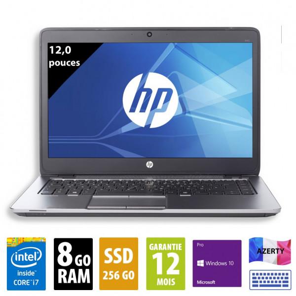 HP Elitebook 820 G2 - 12,5 pouces - Core i7-5600U@2,60GHz - 8Go RAM - 256Go SSD - WXGA(1366x768) - Windows 10 Pro