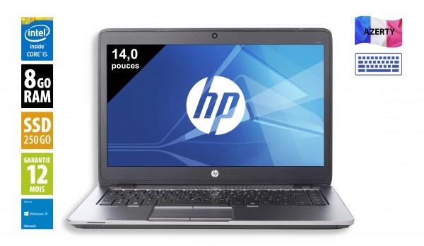HP Elitebook 840 G1 - 14 pouces - Core i5-4300U@1,90GHz - 8Go RAM - 240Go SSD - WXGA (1366x768) - Windows 10 Home