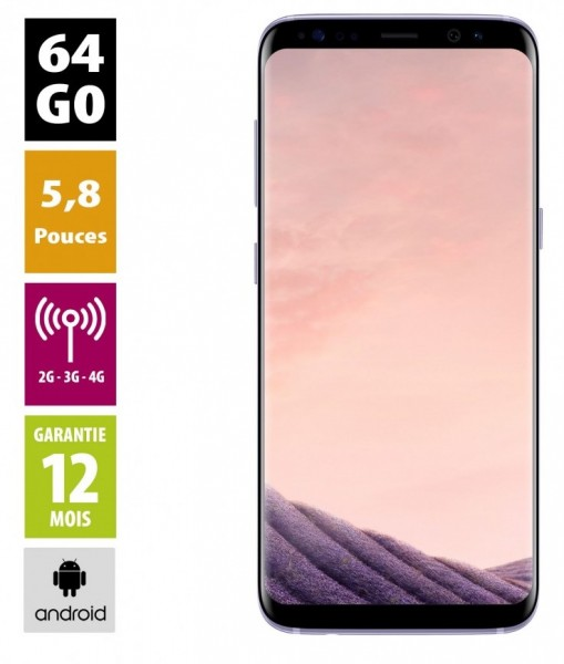Samsung Galaxy S8 Gris orchidée 64GB reconditionné - Grade A+