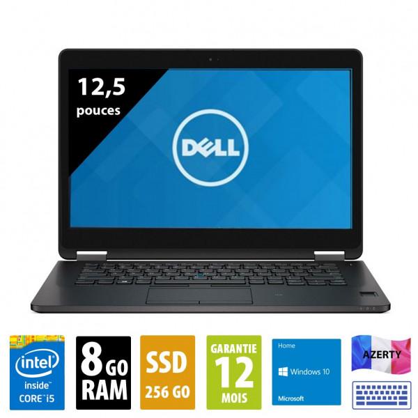 Dell Latitude E7270 - 12,1 pouces - Core i5-6300U@2,40GHz - 8Go RAM - 256Go SSD - WXGA (1366x768) - Windows 10 Home