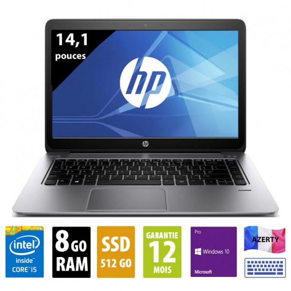HP Elitebook Folio 1040 G1 - 14,1 pouces - Core i5-4300U@1,90GHz - 8Go - 512Go SSD - 1600x900 (WSXGA) - Windows 10 Pro