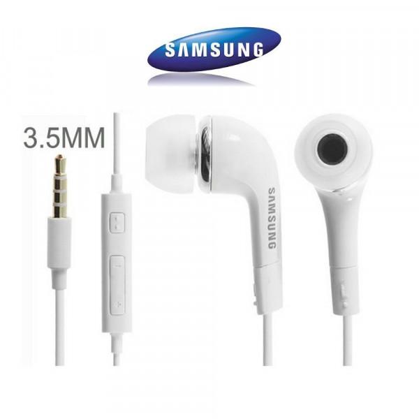 Kit piéton avec écouteurs stéréo blanc origine Samsung EHS61ASFWE
