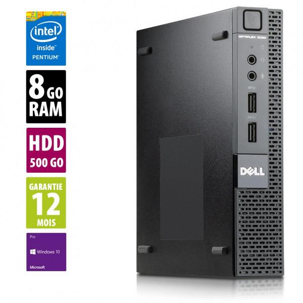 Dell Optiplex 3020 USFF - Pentium G3250T@2.80GHz - 8Go RAM - 500Go HDD - Windows 10 Pro