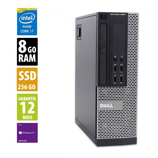 Dell Optiplex 9020 - Core i7-4770@3.40GHz - 8Go RAM - 256 SSD - Windows10 Pro