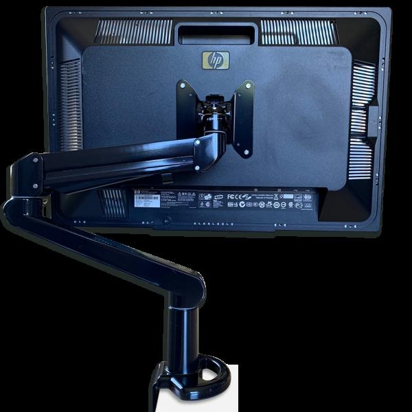 """Ecran PC HP L2445W 24"""" reconditionné - Pied rotatif avec support à mâchoire"""