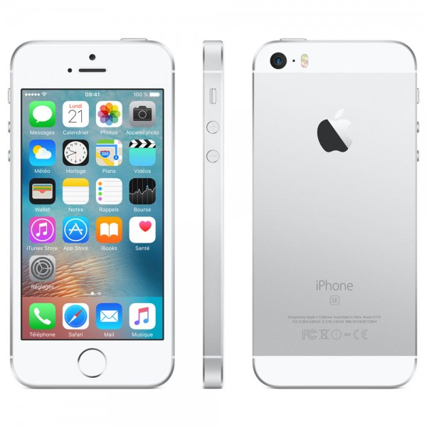 Apple iPhone SE - 128Go - Argent - reconditionné