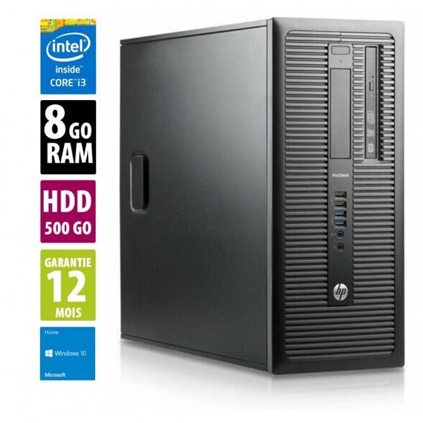HP ProDesk 600 G1 TWR - Core i3-4130@3.40GHz - 8Go RAM - 500Go HDD - Windows 10 Home