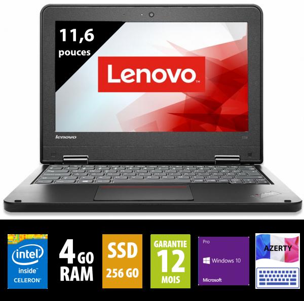 Thinkpad 11e - Intel Celeron N2940@1.83GHz - 8Go RAM - 256Go SSD - WSXGA (1600x900) - Windows 10 Home