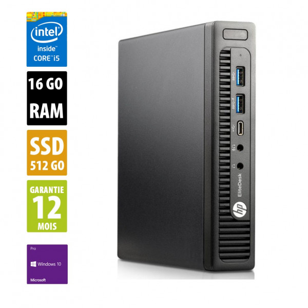 HP 800 G2 USFF d'occasion reconditionné