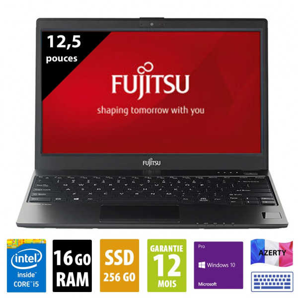 Fujitsu LifeBook U727 - 12,5 pouces - Core i5-7200U@2.50GHz - 16Go RAM - 256Go SSD - FHD (1920x1080) - Windows 10 Pro - Station d'accueil inclue