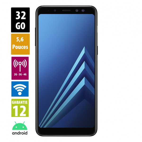 Galaxy A8 Black 32GB reconditionné - Grade A
