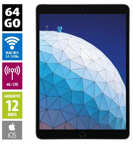 "iPad Air 3 - écran 10,5"" - 64Go - Wifi + 4G - Gris sidéral- Débloqué"