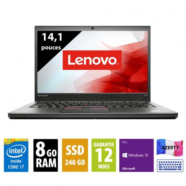 Lenovo Thinkpad T450s - 14 pouces - Core i7-5600U@2.60GHz - 8Go RAM - 240GB SSD - 1600x900 (WSXGA) - Windows 10 Pro