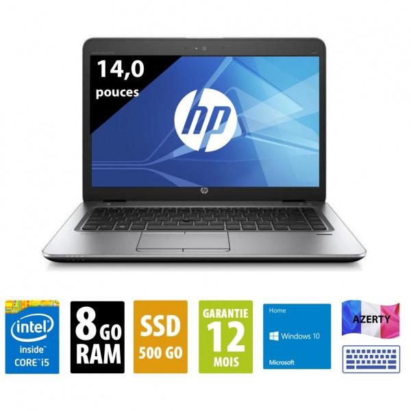 HP Elitebook 840 G3 - 14 pouces - Core i5-6200U@2,30GHz - 8Go RAM - 500Go SSD - WXGA (1366x768) - Windows 10 Home