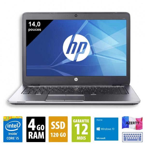HP Elitebook 840 G1 - 14 pouces - Core i5-4310U@2,00GHz - 4Go RAM - 120Go SSD - WXGA (1366x768) - Windows 10 Home