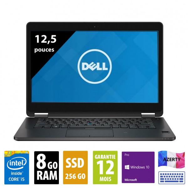 Dell Latitude E7270 - 12,1 pouces - Core i5-6300U@2,40GHz - 8Go RAM - 256Go SSD - WSXGA (1600x900) - Windows 10 Pro