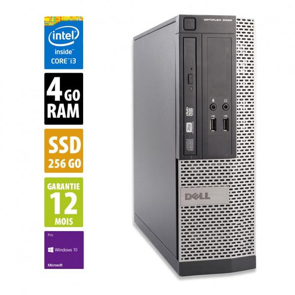 Dell Optiplex 3020 SFF - Core i3-4150@3.50GHz - 4Go RAM - 256Go SSD - DVD-RW - Windows 10 Pro
