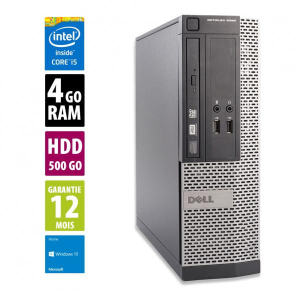 Dell Optiplex 3020 SFF - Core i5-4590@3.30GHz - 4Go RAM - 500Go HDD - DVD-RW - Windows 10 Home