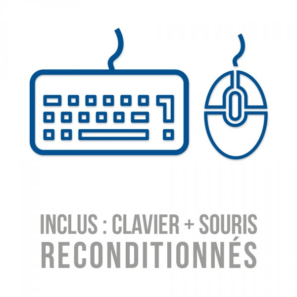 Combo clavier / souris filaires reconditionnés d'occasion - testés fonctionnels