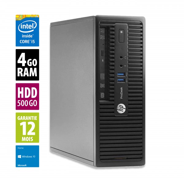HP ProDesk 400 G2.5 - Core i5-4590S@3.00GHz - 4Go RAM - 250Go HDD  - Windows 10 Home