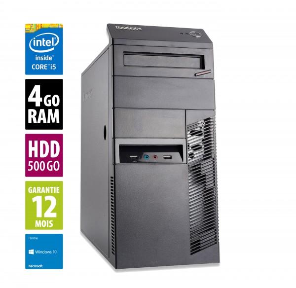 Lenovo ThinkCentre M91P MT - Core i5-2400@3.10GHz- 4Go RAM - 500Go HDD - DVD-R - Windows 10 Home