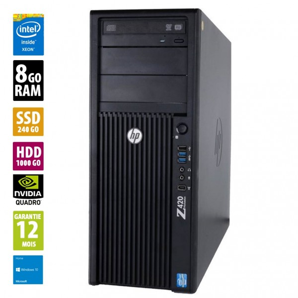 HP Z420 d'occasion reconditionné