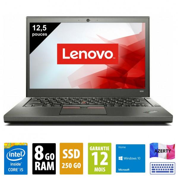 Lenovo ThinkPad X250 - 12,5 pouces - Core i5-5200U@2.20GHz - 8Go RAM - 240Go SSD - WXGA (1366x768) - Windows 10 Home