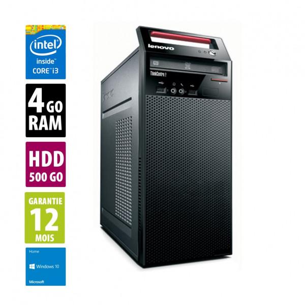 Lenovo ThinkCentre Edge 71 - MT - Core i3-2120@3.30GHz - 4Go RAM - 500Go HDD - DVD/RW - Windows 10 Home