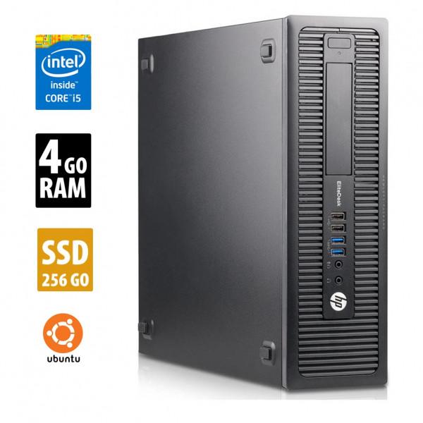 HP EliteDesk 800 G1 SFF - Core i5-4590@3,30GHz - 4Go RAM - 256Go SSD - Ubuntu