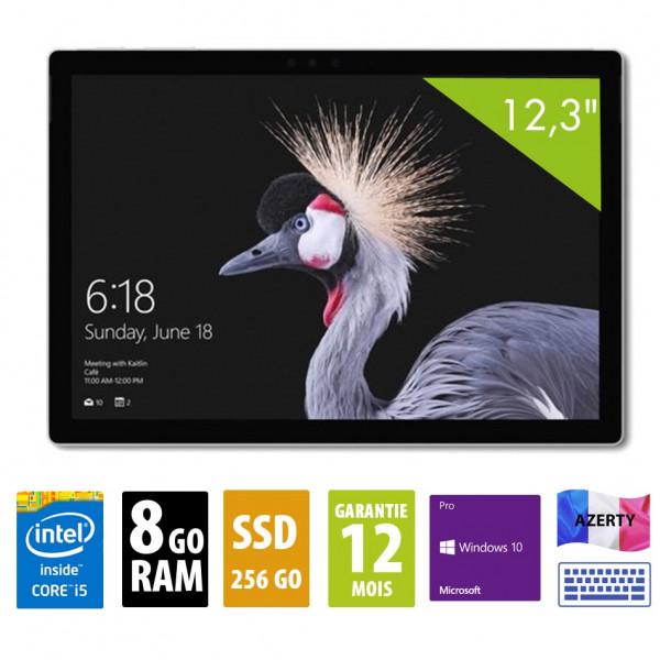 Surface Pro 5 1796 - 12,3 pouces - core i5-7300U@2.60GHz - 8GO RAM - 256GO SSD - Vendu sans stylo