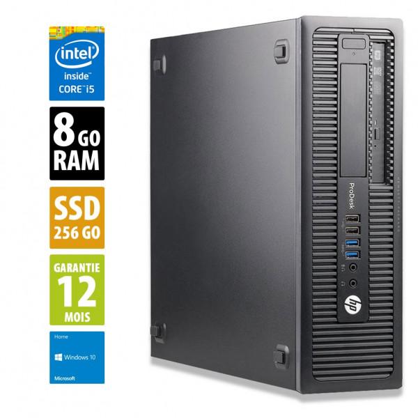 HP ProDesk 600 G1 SFF - Core i5-4570@3,20GHz - 8Go RAM - 256Go SSD - Windows 10 Home