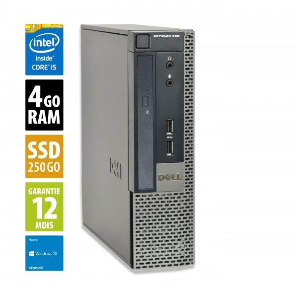 Dell Optiplex 990 USFF - Core i5-2400@3.10GHz - 4Go RAM -  240Go SSD - DVD-R  - Windows 10 Home