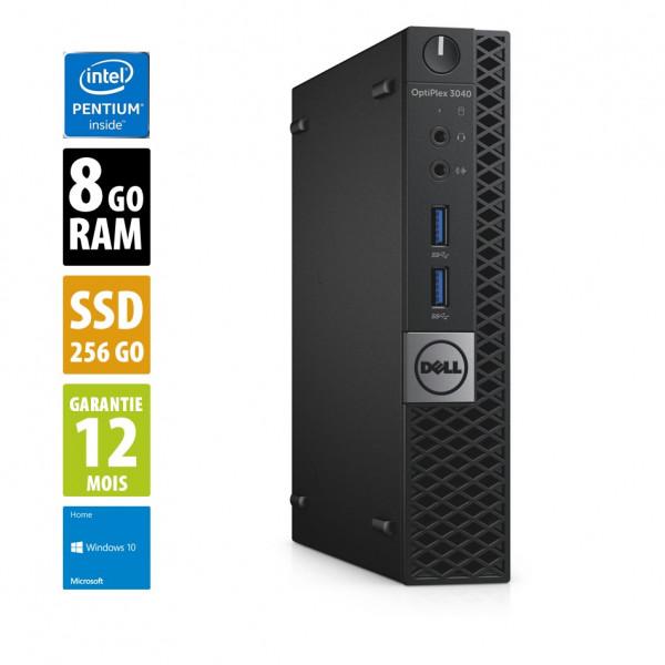 Dell Optiplex 3040 USFF - Pentium CPU G4400T@2.90GHz - 8Go RAM - 256Go SSD - Windows 10 Home