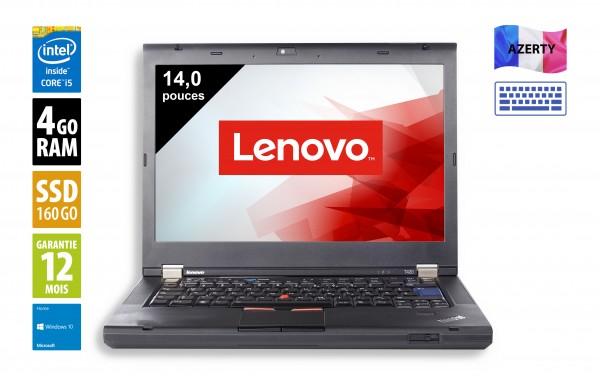 Lenovo T420 - 14,1 pouces - Core i5-2520M@2,50 GHz - 4Go RAM - 160Go SSD - DVD-R - WXGA(1366X768) - Windows 10 Home